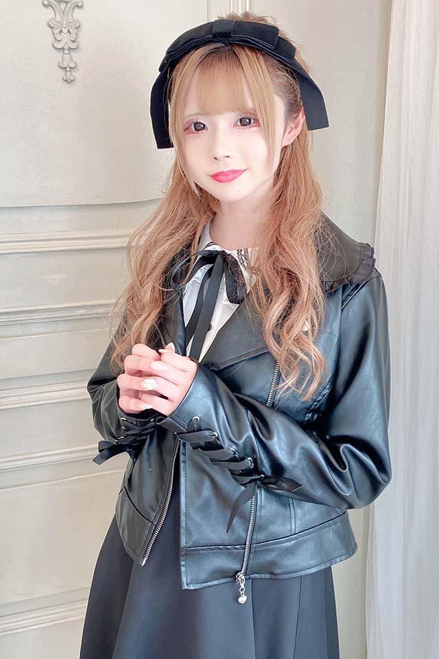【MA*RS】袖スピンドルライダース - ブラック size-F