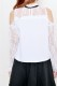 【MA*RS】肩あきレースコンビブラウス - ホワイト size-F