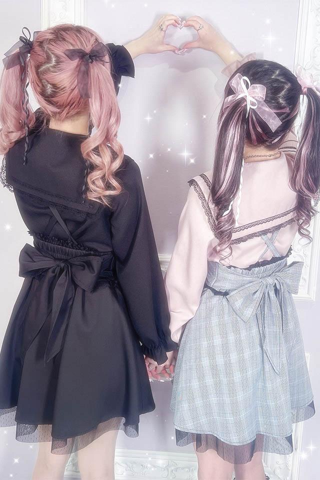 【MA*RS】トリプルリボン&後ろリボンスカート - グレー size-F
