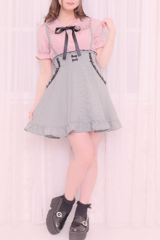 【MA*RS】リボン付ポケットレースフレアスカート - BLK/ホワイト size-F