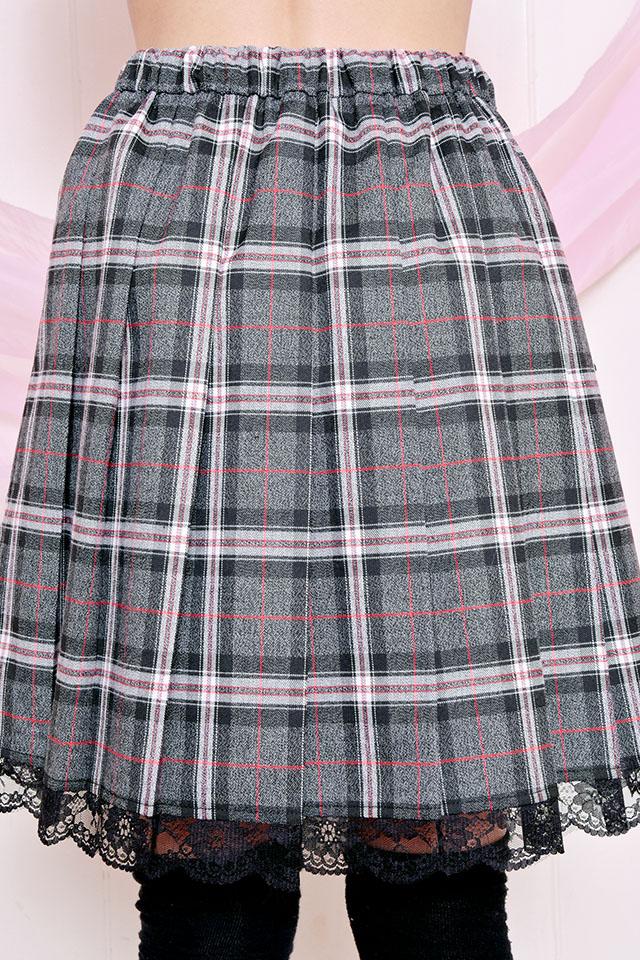 【Princess Melody】♪ブリティッシュチェックGirsプリーツスカート♪ - ブラック size-F