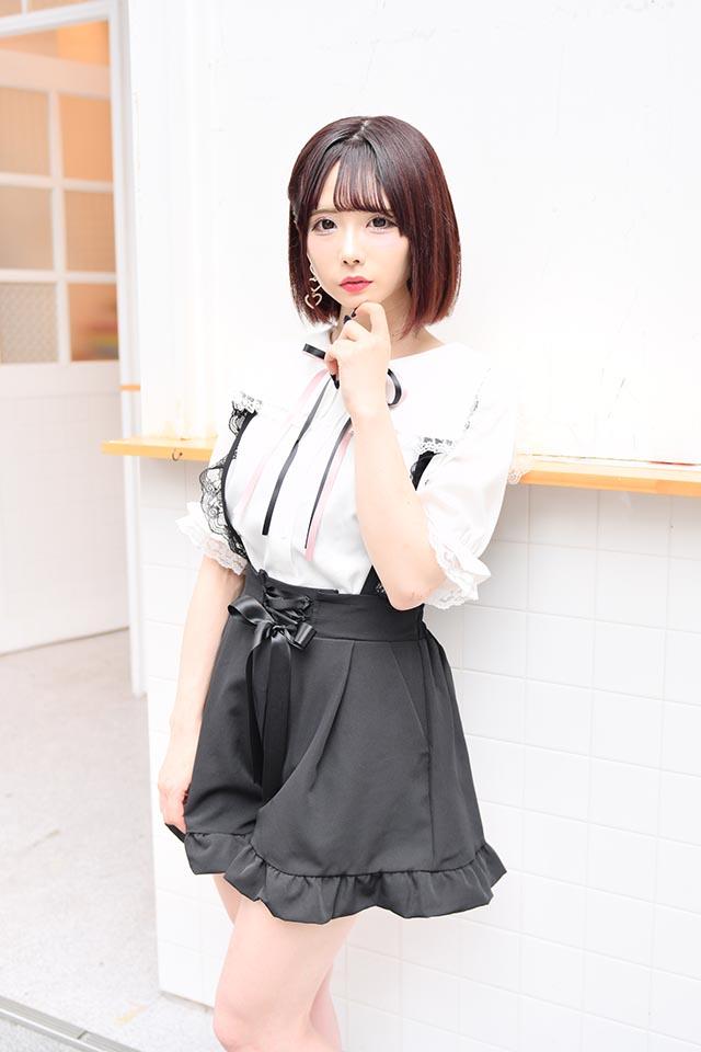 【MA*RS】レースアップリボン付きショートパンツ - ブラック size-F