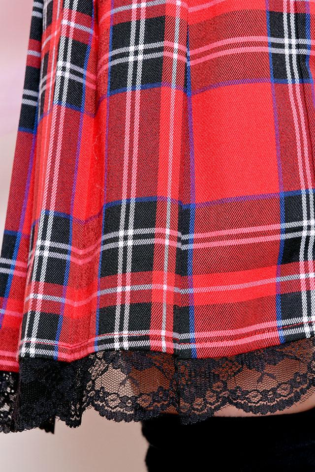 ☆24%OFF☆【Princess Melody】♪ブリティッシュチェックGirsプリーツスカート♪ - レッド size-F