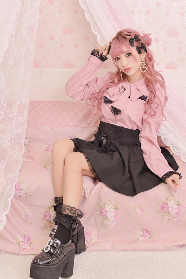 【Princess Melody】♪チュール重ねボリュームスカート♪ - ブラック size-F