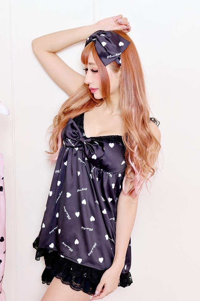 【Princess Melody】♪プリメロハートルームウェア3点SET♪ - ブラック size-F