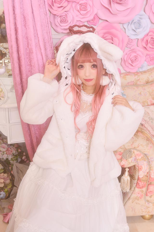 【Princess Melody】♪通販限定♪ふわふわうさたんショートコート♪ - ホワイト size-F