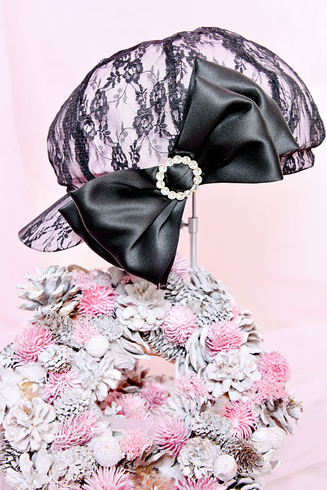 【Princess Melody】きらきらリング付きおりぼんレースキャスケット - ピンク size-F
