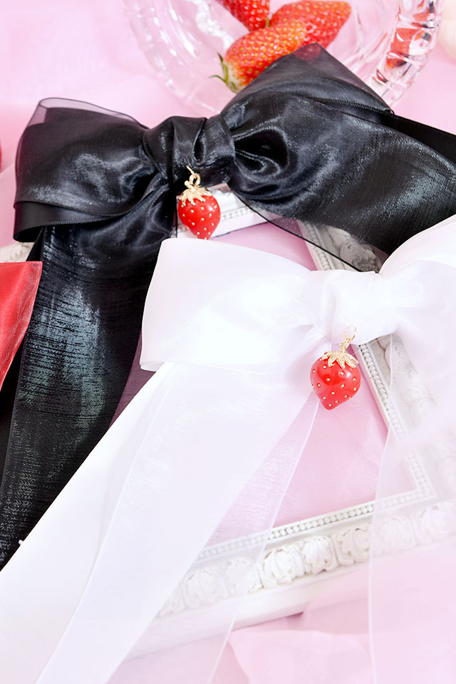 【Princess Melody】♪いちごおりぼんクリップ♪ - ホワイト size-F