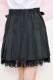 【Princess Melody】♪Girlyチェック&無地プリーツスカート♪ - ブラック size-F