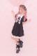 【Princess Melody】♪プリンセスおりぼん柄&無地肩あきワンピ♪ - BLK/ホワイト size-F