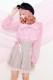 【Princess Melody】♪Girlyチェック&無地プリーツスカート♪ - ブラウン size-F