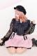 【Princess Melody】♪Girlyチェック&無地プリーツスカート♪ - ピンク size-F