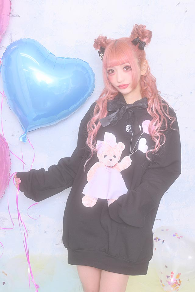 【Princess Melody】♪バルーンくまちゃんパーカー♪ - ブラック size-F