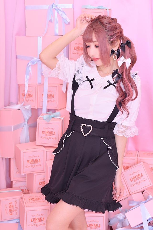 【Princess Melody】♪パール&おりぼんブラウス♪ - ホワイト size-F
