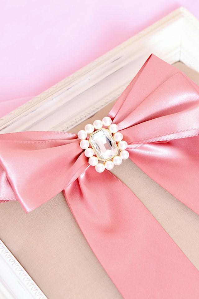 【Princess Melody】♪きらきらビジューおりぼんクリップ♪ - ピンク size-F