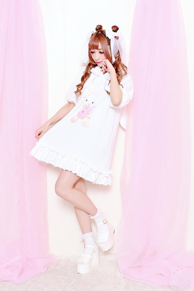 ☆23%OFF☆【Princess Melody】♪ばぶうさちゃんパーカー♪ - ホワイト size-F