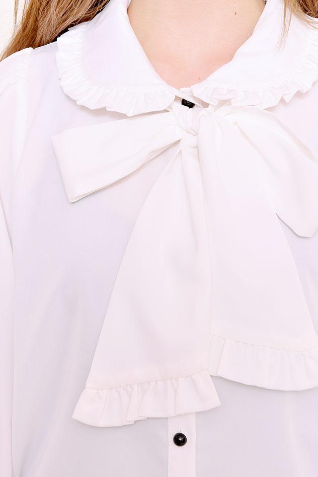 【MA*RS】フリルBigリボンブラウス - ホワイト size-F