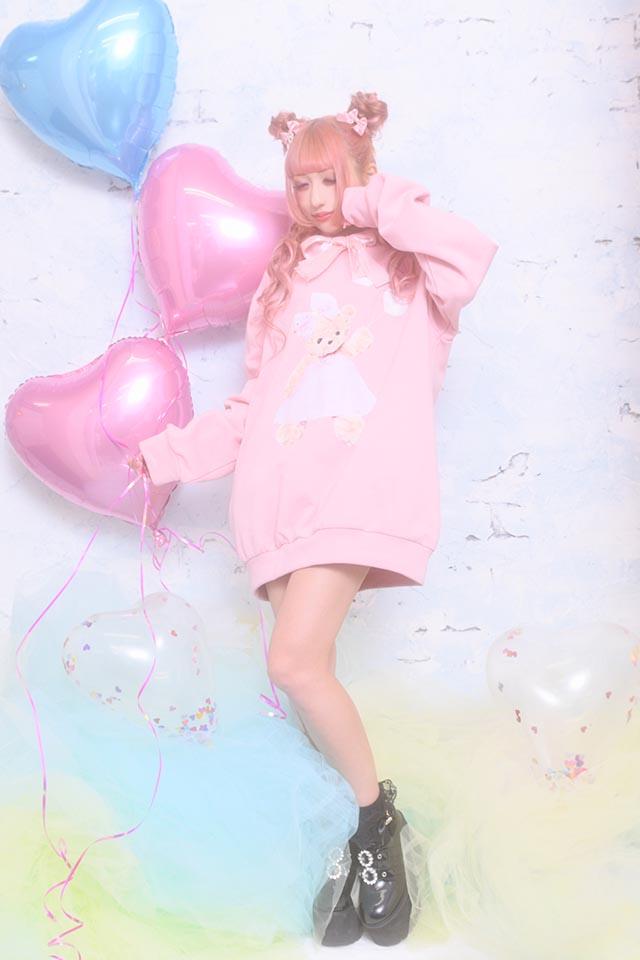 【Princess Melody】♪バルーンくまちゃんパーカー♪ - ピンク size-F