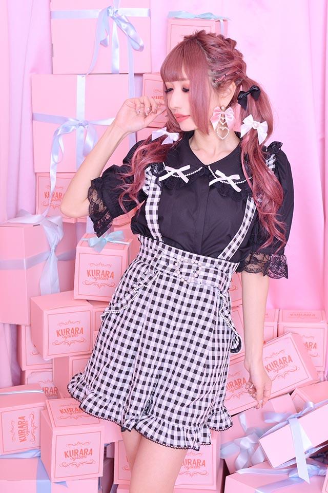 【Princess Melody】♪パール&おりぼんブラウス♪ - ブラック size-F