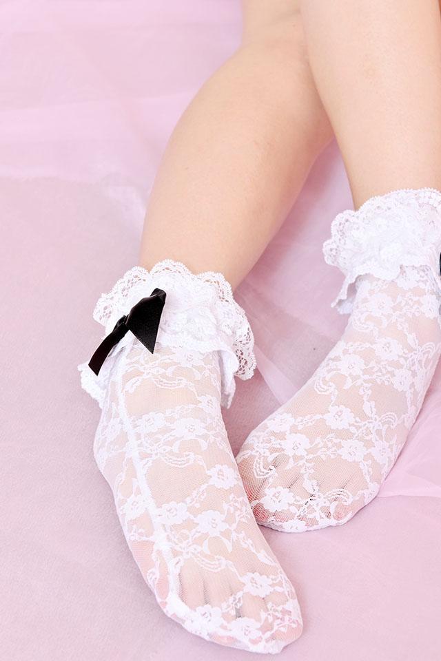 【Princess Melody】♪レースおりぼんソックスPart2♪ - ホワイト size-F