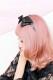 【Princess Melody】♪パールハートレースおりぼんカチューシャ♪ - ブラック size-F