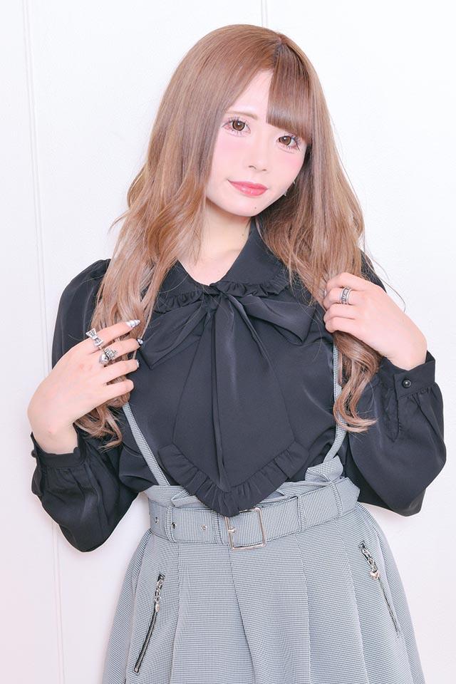 【MA*RS】フリルBigリボンブラウス - ブラック size-F