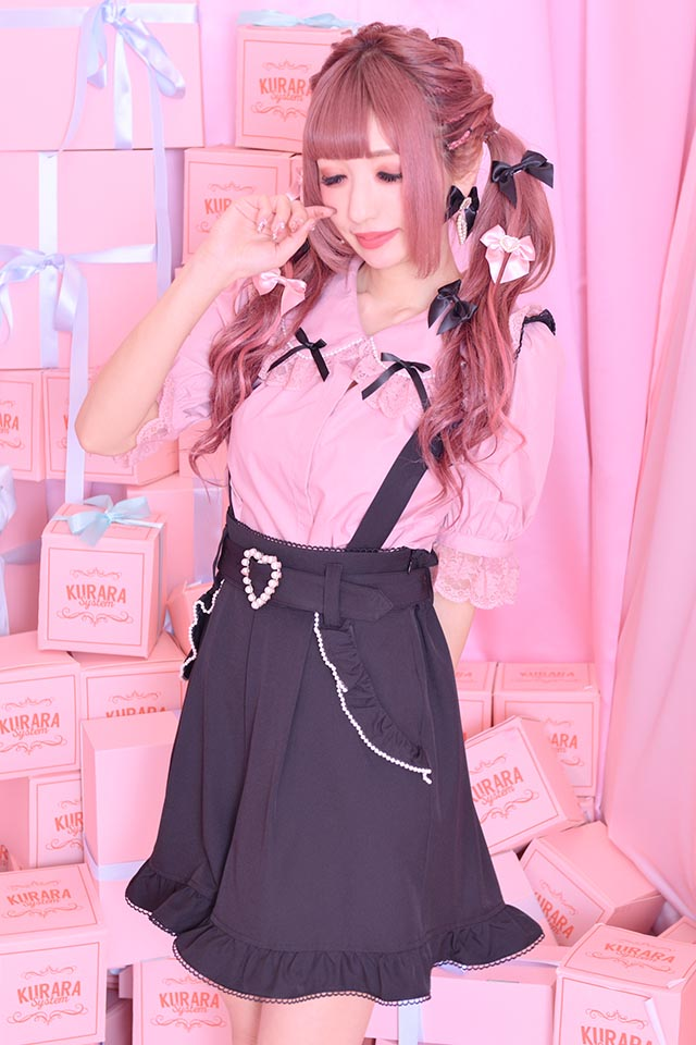 【Princess Melody】♪パール&おりぼんブラウス♪ - ピンク size-F