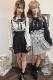 【MA*RS】Wハートバックルプリーツスカート - ブラック size-F