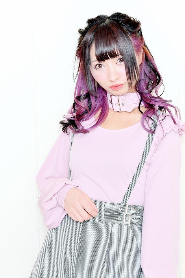 【MA*RS】バックルチョーカーボリューム袖TOPS - ピンク size-F