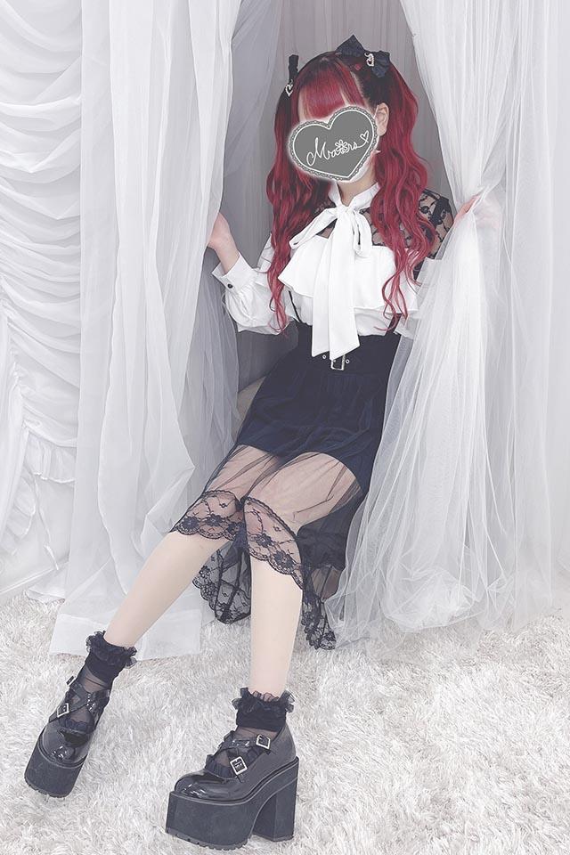 【MA*RS】チュールヘムバツクルロングスカート - ブラック size-F