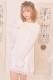 ☆15%OFF☆【MA*RS】レースアップリボン袖ファーニットワンピ - ホワイト size-F