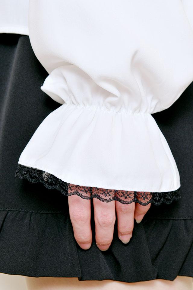 【MA*RS】チョーカーリボンブラウス - ホワイト size-F