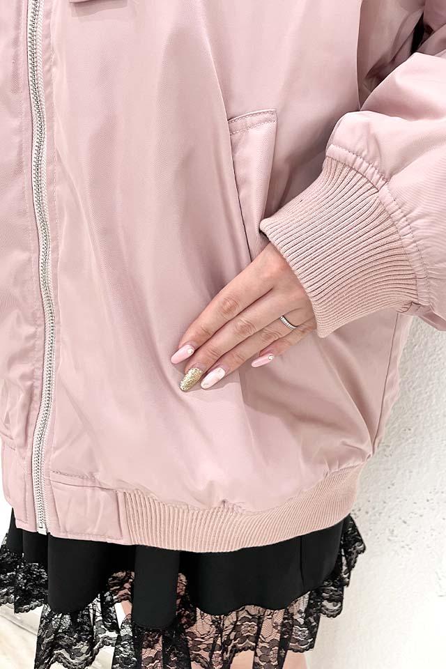【MA*RS】セーラーリボンロングブルゾン - ピンク size-F