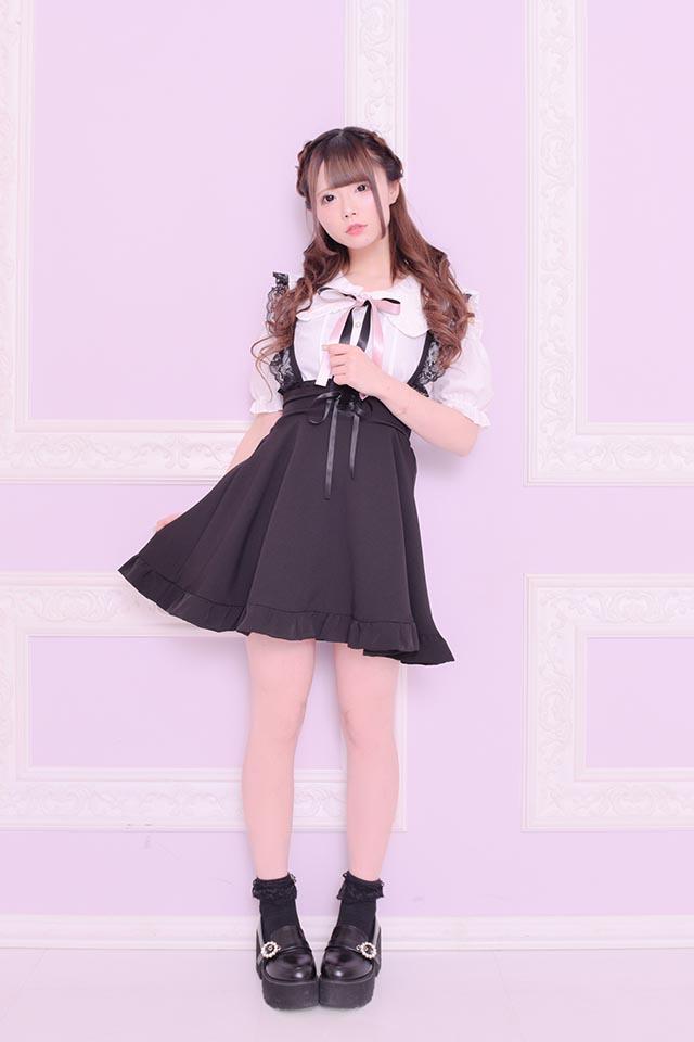 【MA*RS】肩あき三角セーラー襟ブラウス(2色リボン付) - ホワイト size-F