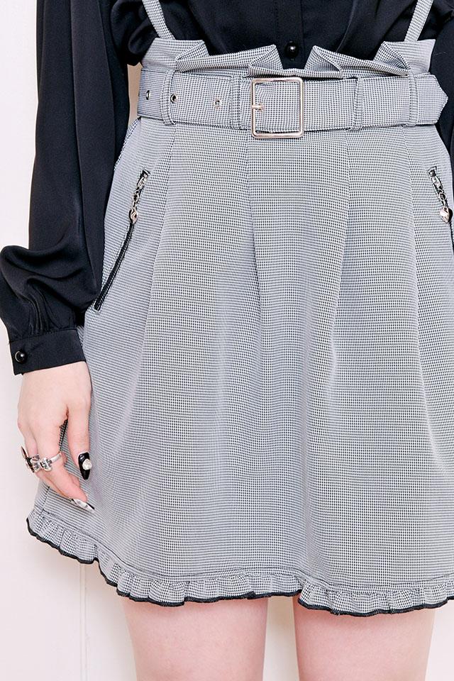 【MA*RS】ZIPポケット付きフレアスカート - グレー size-F