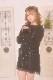 ☆15%OFF☆【MA*RS】レースアップリボン袖ファーニットワンピ - ブラック size-F