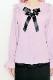 【MA*RS】☆WEB限定☆襟レースブローチ付きブラウス - ピンク size-F