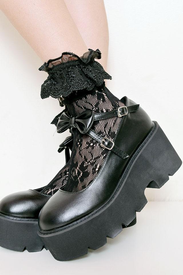 【MA*RS】リボンパンプス - ブラック
