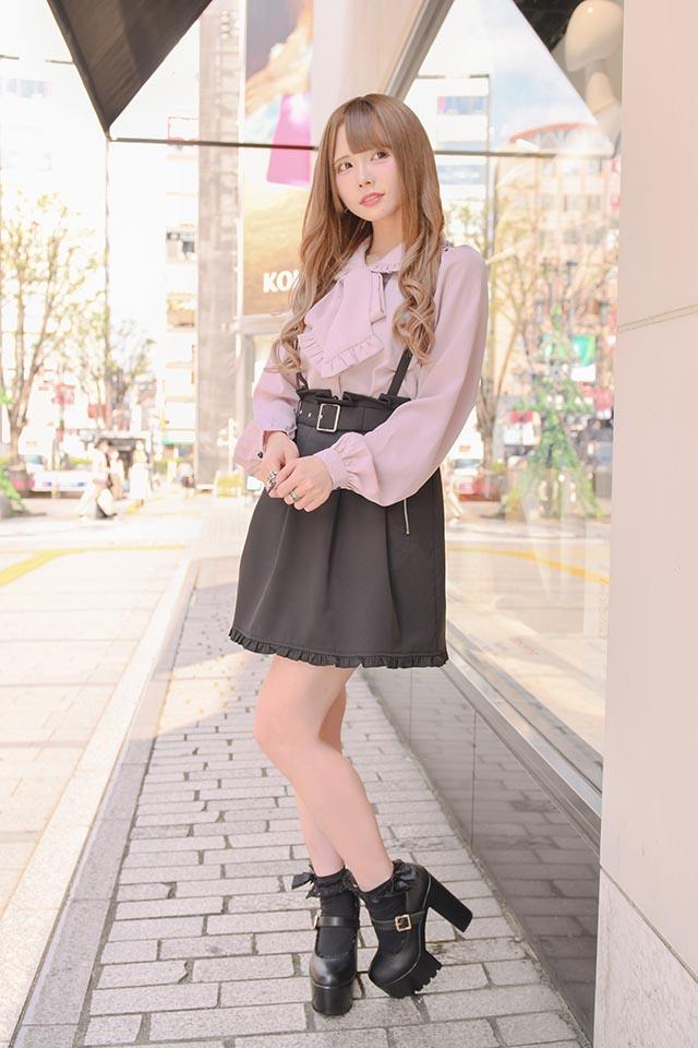 【MA*RS】ZIPポケット付きフレアスカート - ブラック size-F