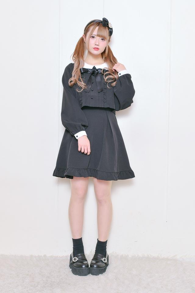 ☆21%OFF☆【MA*RS】SETUP風ワンピース - ブラック size-F