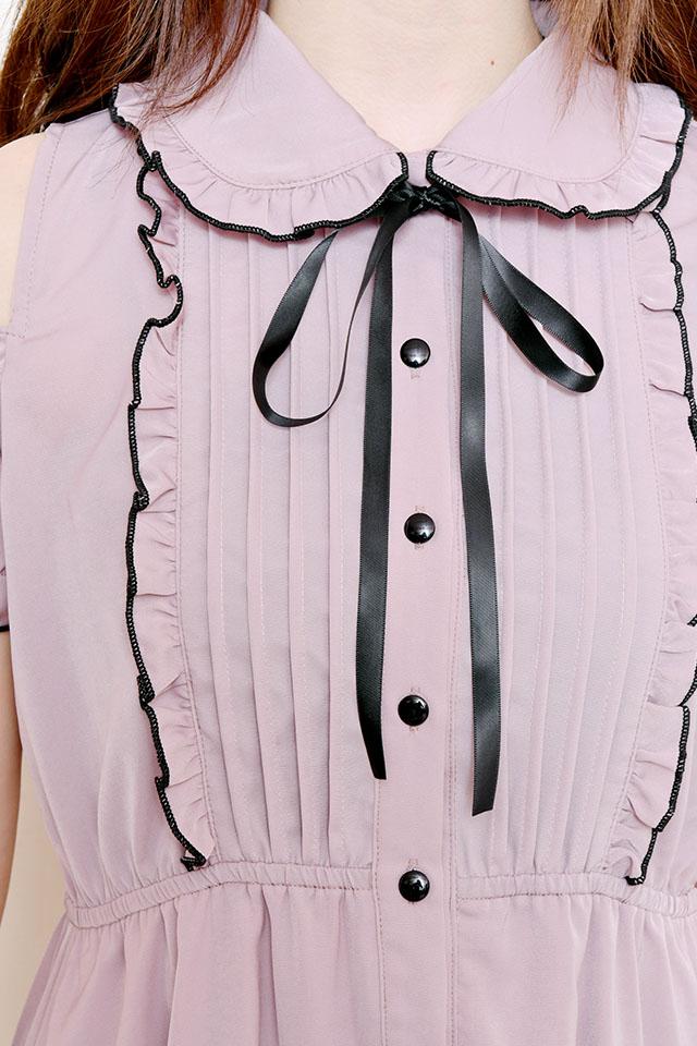 ☆41%OFF☆【MA*RS】肩開きメローマキシワンピ - ピンク size-F