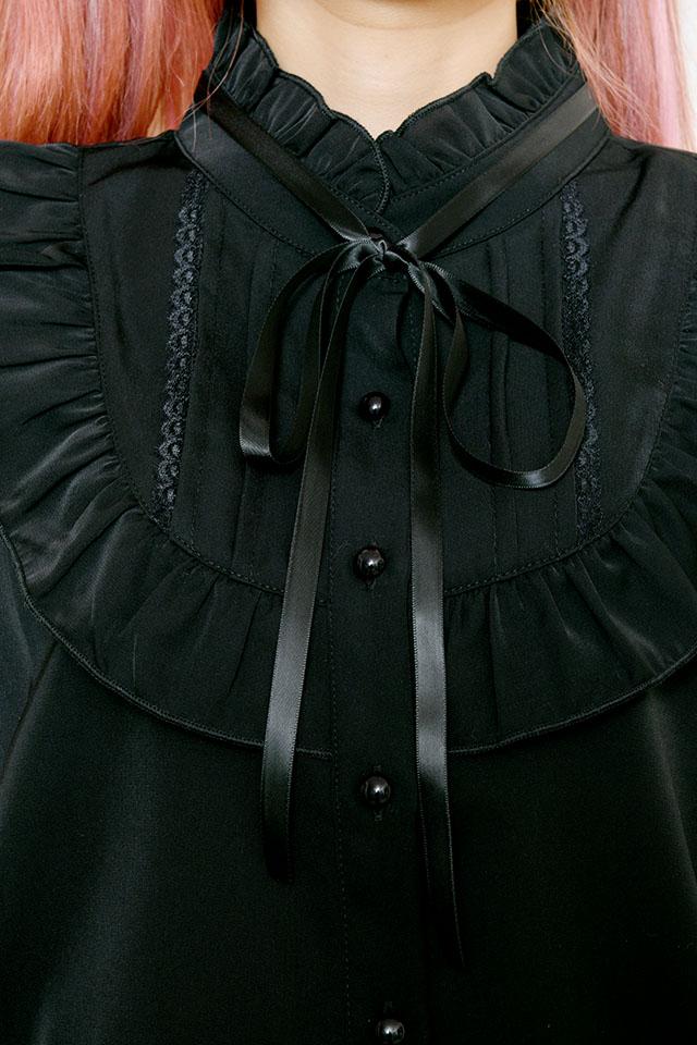【MA*RS】ヨークフリルブラウス - ブラック size-F