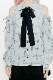 【MA*RS】チェック肩あきブラウス - BLK/ホワイト size-F