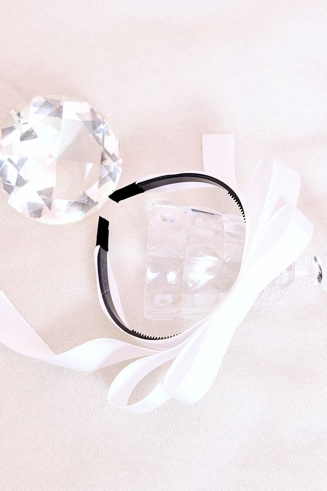 【MA*RS】ダブルサテンリボンカチューシャ - ホワイト size-F