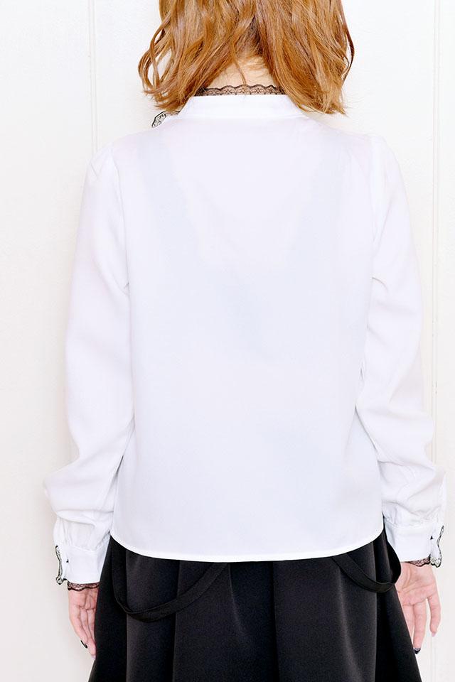 【MA*RS】ハートバックル付きブラウス - ホワイト size-F