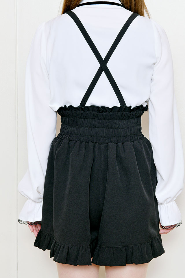 【MA*RS】3バックルハイウエストショートパンツ - ブラック size-F