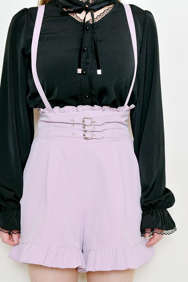 【MA*RS】3バックルハイウエストショートパンツ - ピンク size-F