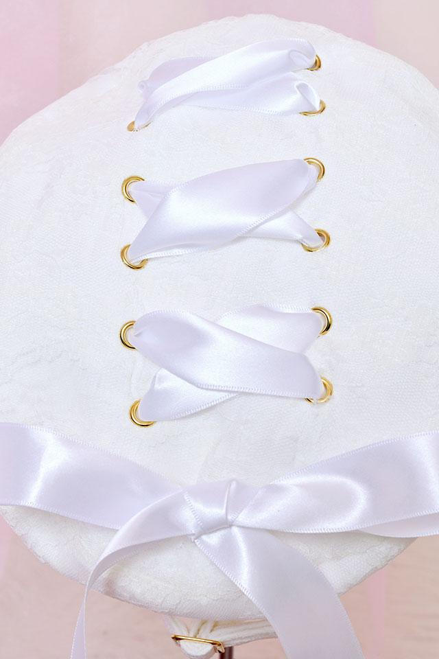【Princess Melody】♪レースアップおりぼんベレー帽♪ - ホワイト size-F