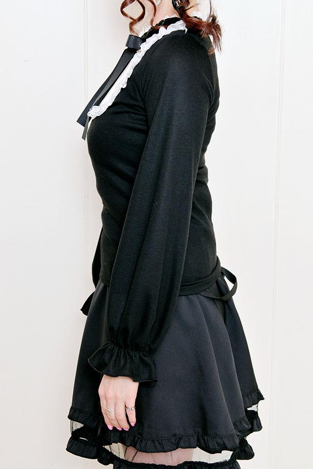 【MA*RS】チョーカー風リボンヨークTOPS - ブラック size-F