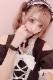 【Princess Melody】♪パールハート付きおりぼんブレス♪ - ブラック size-F